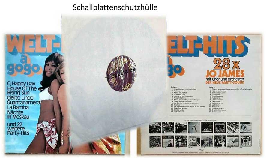 Schallplattenhülle zum zusätzlichen Schutz des Vinyls