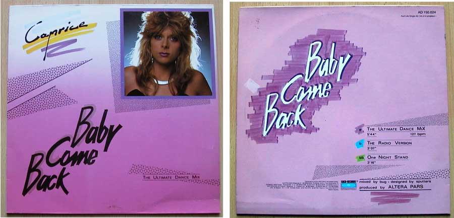 Caprice – Baby Come Back auf Vinyl, Maxi-Single