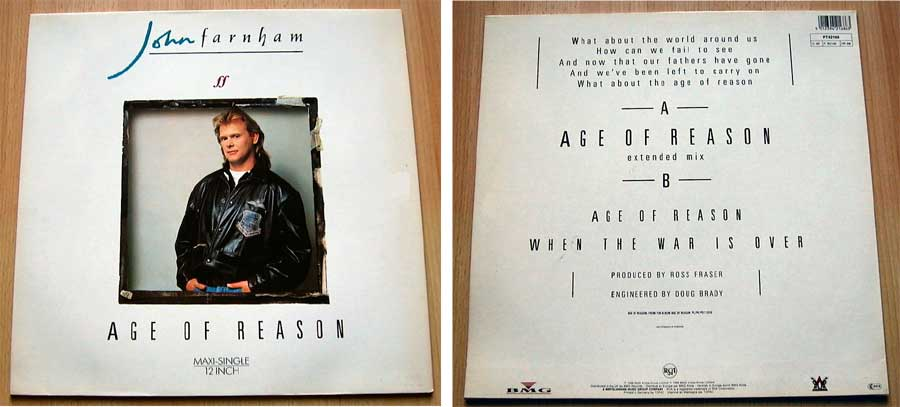 John Farnham - Age Of Reason - Vinyl Maxi-Single von 1988