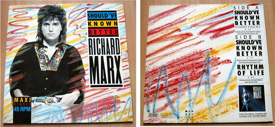 Richard Marx - Should've Known Better - Vinyl Maxi-Single von 1987