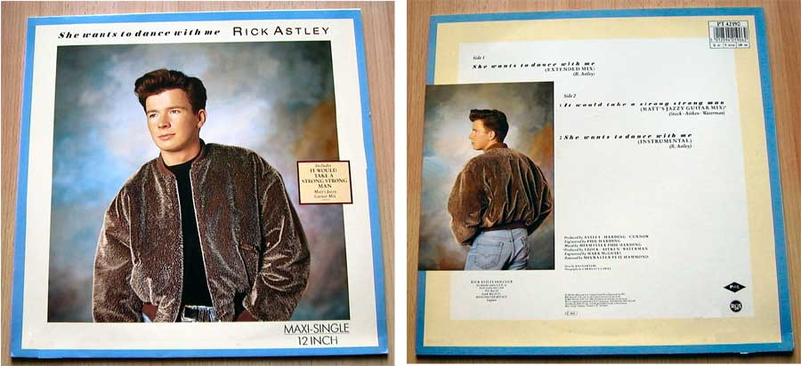 Rick Astley - She Wants To Dance With Me - Vinyl Maxi-Single von 1988