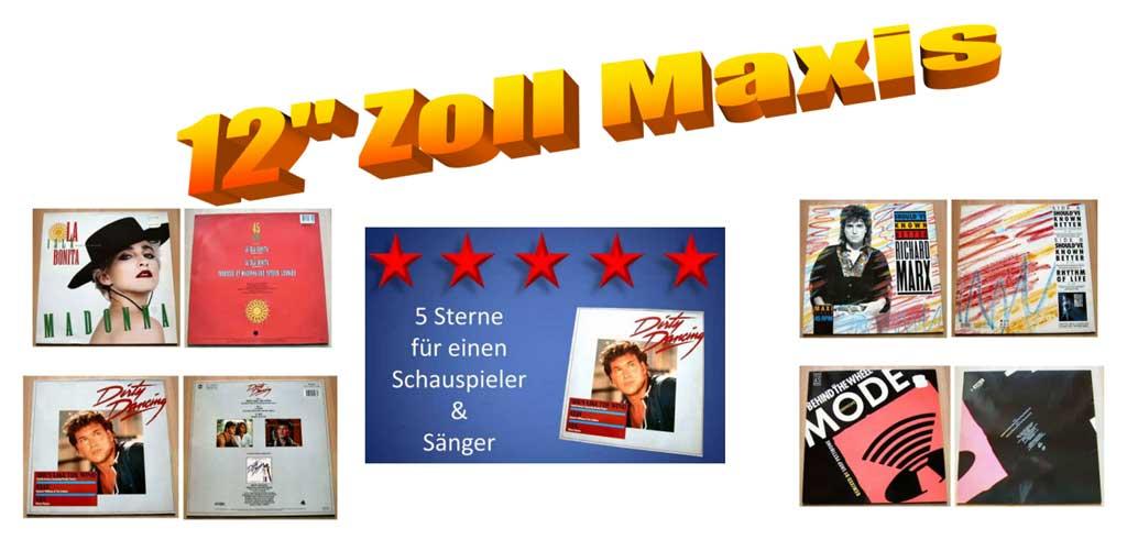 Für Schallplattenliebhaber gibt es hier 12 Zoll Maxi-Singles
