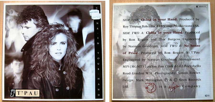 T'Pau – China In Your Hand, Privatsammlung Vinyl