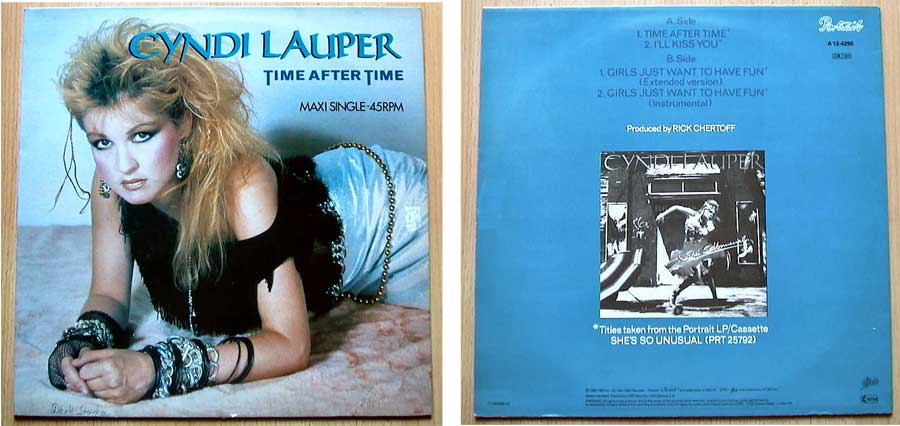 Cyndi Lauper ‎– Time After Time auf Maxi-Single
