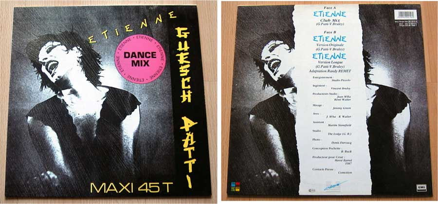 Etienne - Guesch Patti - Maxi Single von 1987