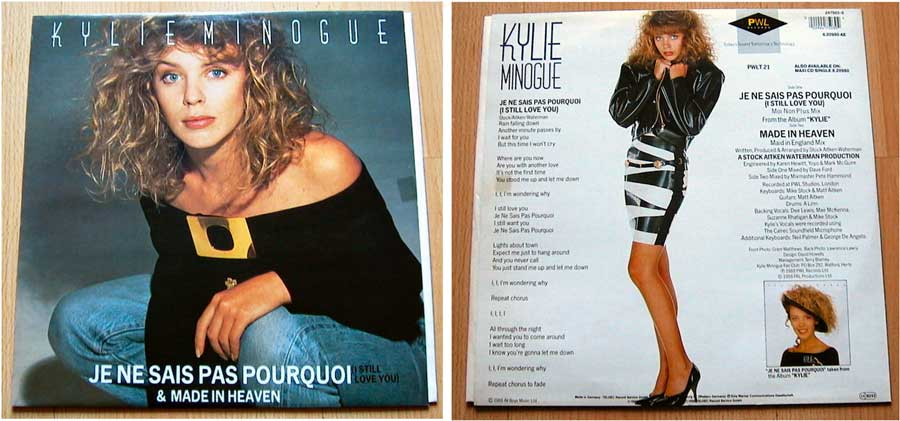Kylie Minogue - Je Ne Sais Pas Pourquoi - Maxi Single von 1988