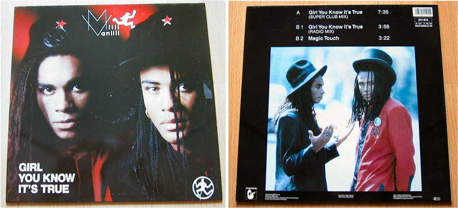 Milli Vanilli - Girl You Know It's True - Maxi Single von 1988
