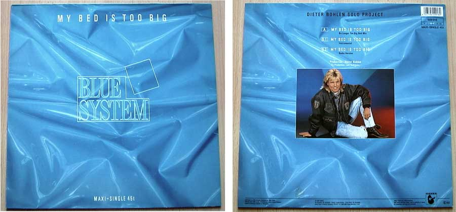 Blue System - My Bed Is Too Big auf Vinyl, Maxi-Single