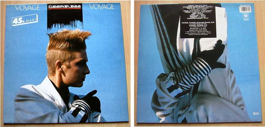 Desireless - Voyage Voyage - Vinyl Maxi-Single von 1986