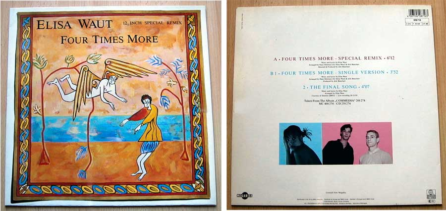 Elisa Waut - Four Times More - Vinyl Maxi-Single von 1987