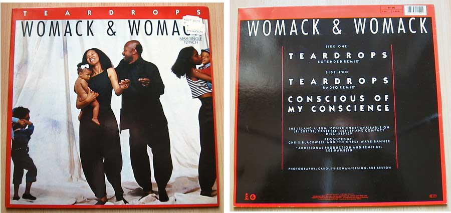 Womack & Womack - Teardrops - Vinyl Maxi-Single von 1988