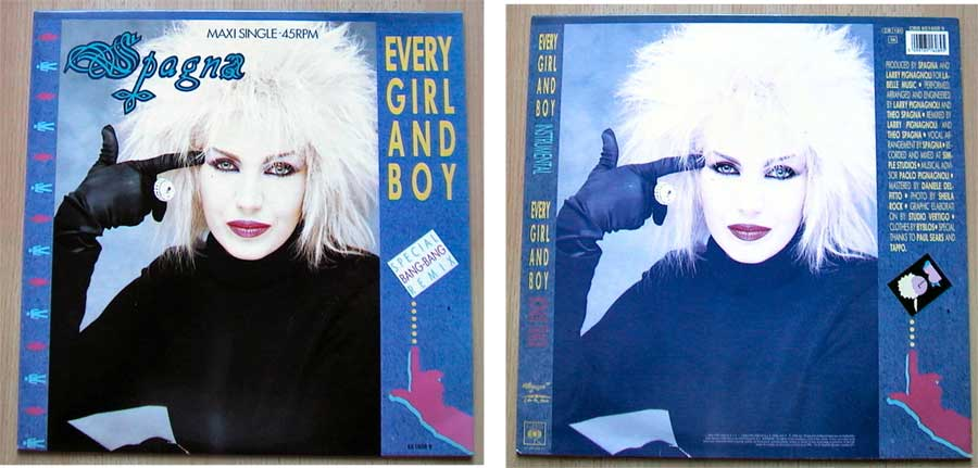 Spagna - Every Girl And Boy auf Vinyl, Maxi-Single