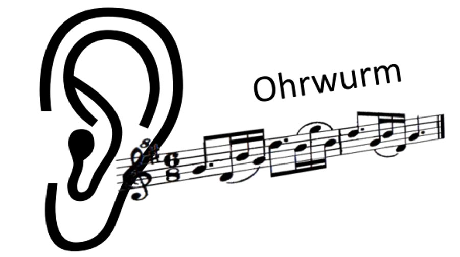 Musik hören, einen Ohrwurm