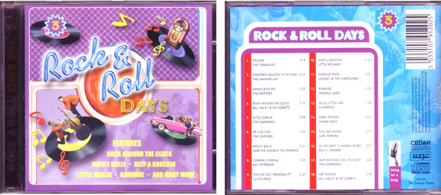 Compilation von Songs Rock & Roll