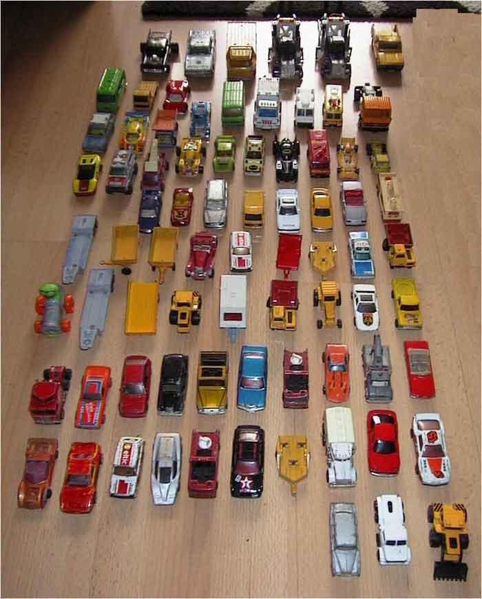 spielzeugautos von Matchbox, Hot Wheels, Siku