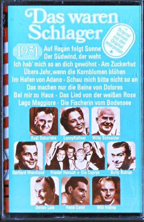 Musik-Kassetten von 1951