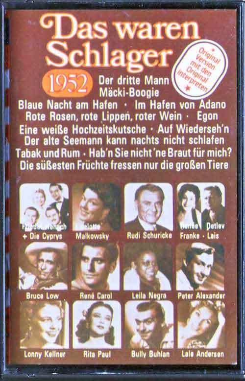 Musik-Kassetten von 1952