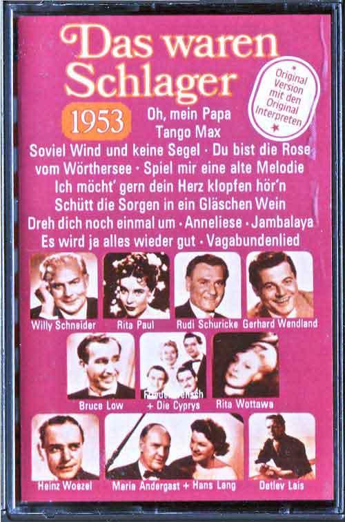 Musik-Kassetten von 1953