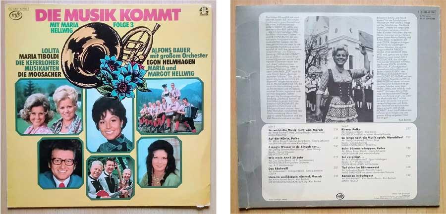 Die Musik kommt auf Vinylplatten