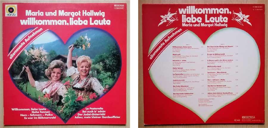 Maria und Margot Hellwig, Musik auf Vinylplatten