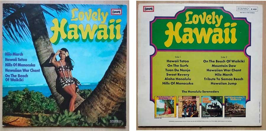 Tanzlieder auf Langspielplatte The Honolulu Serenaders