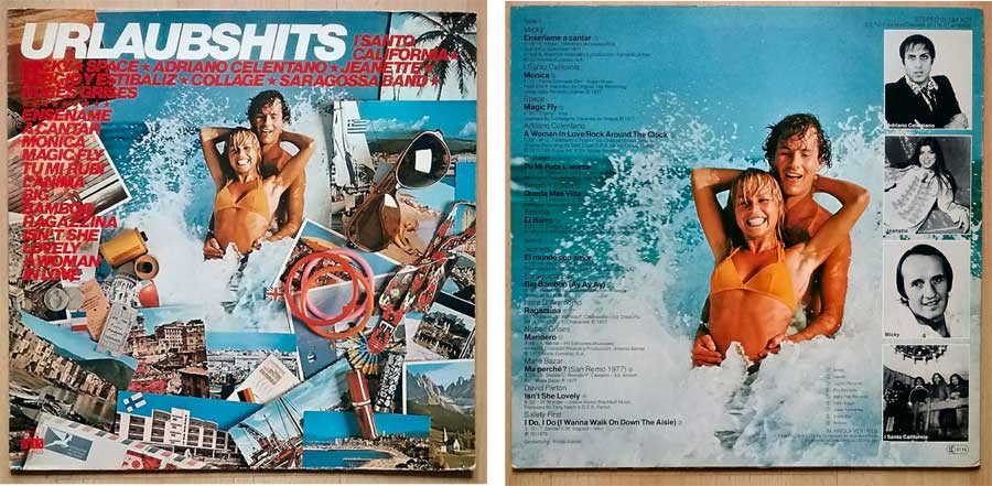Tanzlieder und Urlaubshits auf LP, Vinyl