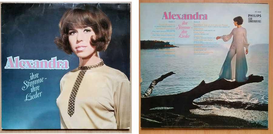 LP, Vinyl mit Alexandra ihre Stimme ihre Lieder
