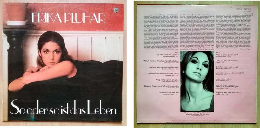 Schallplatte von Erika Pluhar