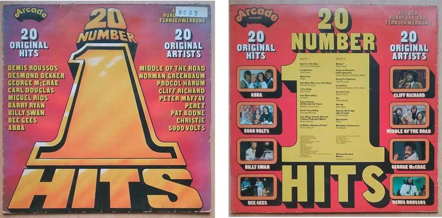 Schallplatte 1976 mit 20 Number 1 Hits, Sammler