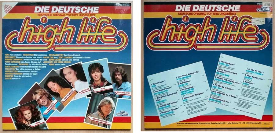 Schallplatte mit Deutschen original Top Hits ungekürzt