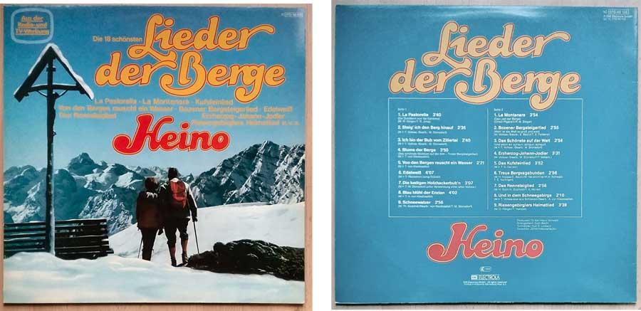 Schallplatte von 1981 mit Heino, Lieder der Berge