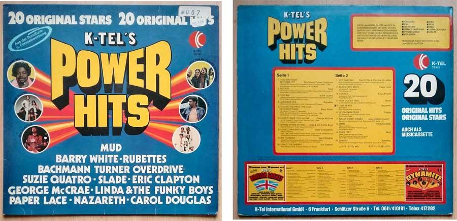 K-TEL'S Power Hits auf Schallplatte von 1975