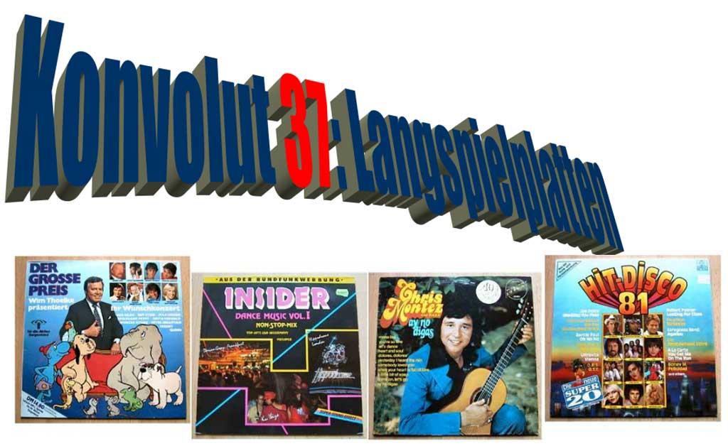 Partymusik, Partyhits auf LP Vinyl von 1981 bis 1987