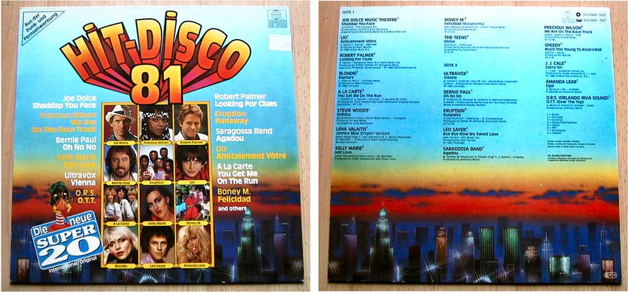 Partymusik, Hit Disco 81 - Die Super 20 - LP Vinyl