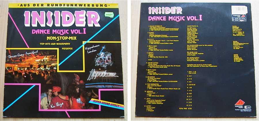 Insider Dance Music Vol. 1 - LP Vinyl von 1987