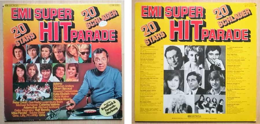 Schallplatte Vinyl von EMI Super Hitparade mit 20 Schlagern