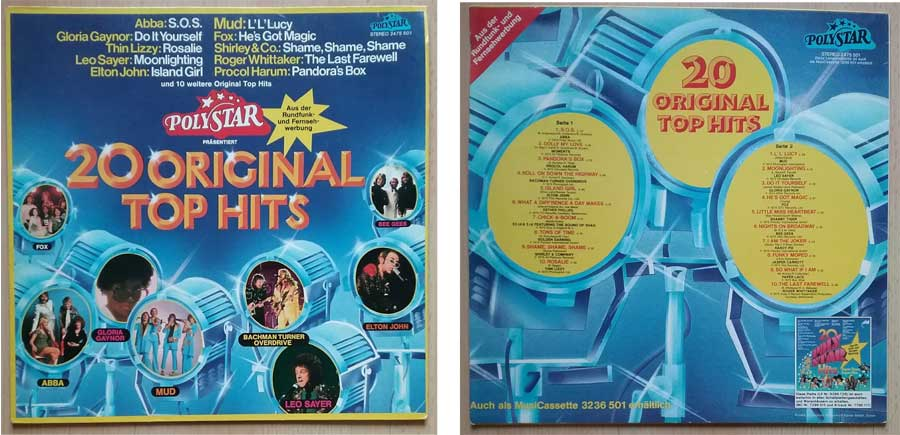Compilation mit 20 Original Top Hits