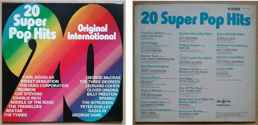 Schallplatte, Compilation 20 Super Pop Hits aus 1975