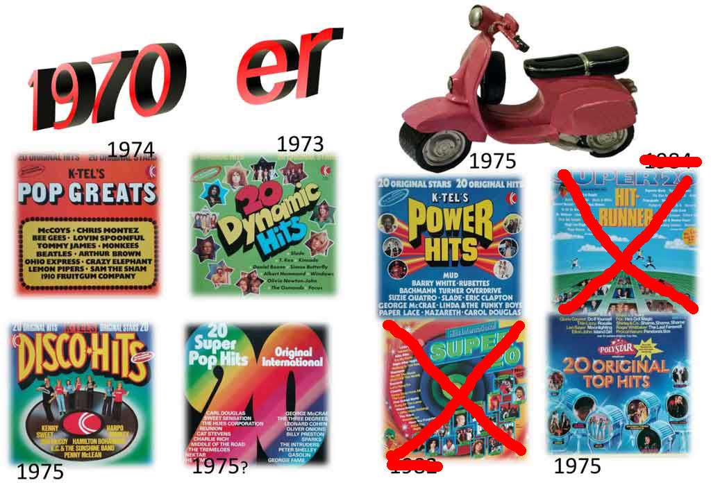 Hit-Runner und Pophits der 1970er