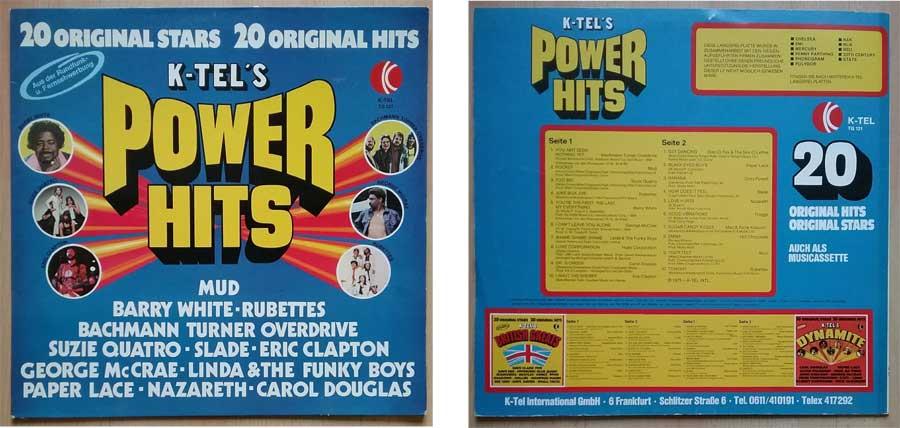 Schallplatte von 1975 mit K-TEL'S Power Hits