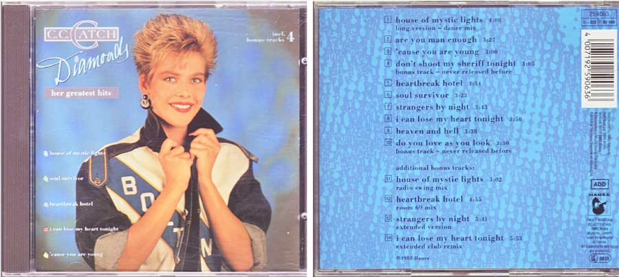 C.C. Catch ‎– Diamonds - Her Greatest Hits - CD von 1988