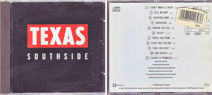 Texas - Southside - CD von 1989