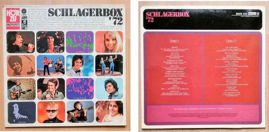 Langspielplatte Schlagerbox, Records von 1972