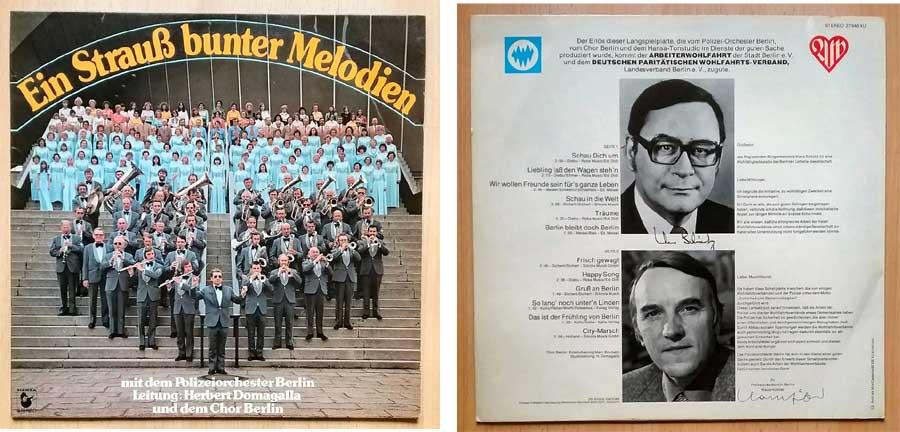 Polizeiorchester Berlin mit Musik auf Langspielplatte