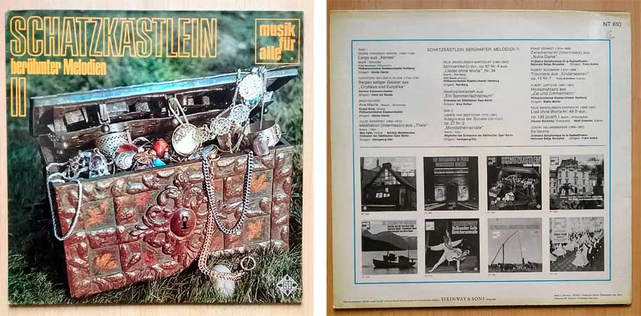 Records das Schatzkästlein mit Melodien auf Vinyl