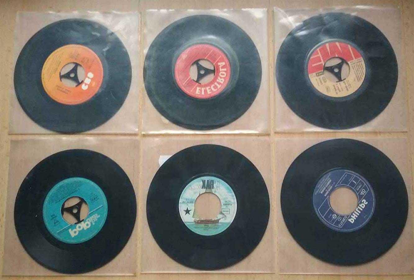 Retro Schallplatten, Singles aus einer Jukebox