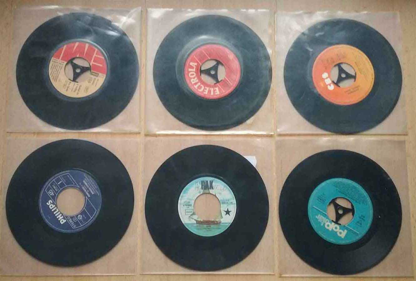 Retro-Singles aus einer Musikbox