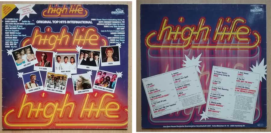 Tanzschallplatten High Life mit Top Hits