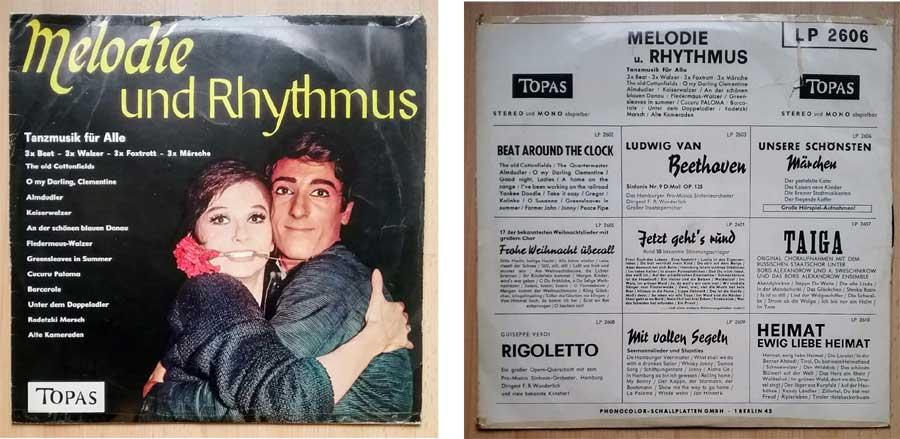 Tanzplatte mit Melodie Rhythmus, Tanzmusik
