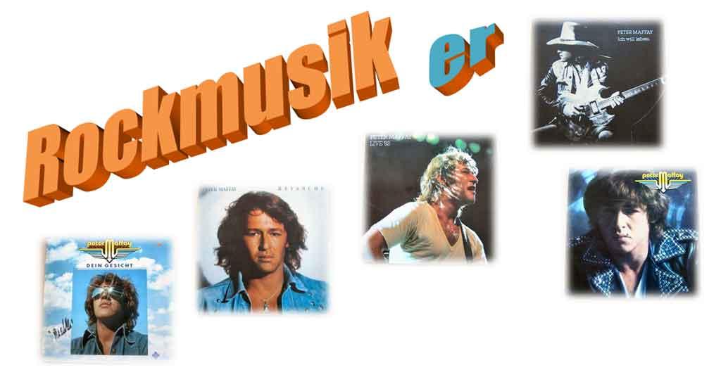 Deutschrock Rockmusiker Peter Maffay auf Schallplatten